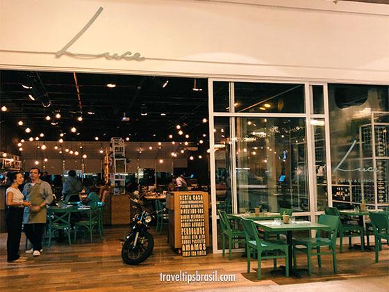 Luce Restaurante Italiano No Fashion Mall Rj Travel Tips Brasil